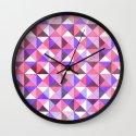 Purple/Pink : Pattern Wall Clock