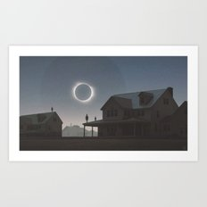 Solar Eclipse Art Print