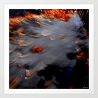 autumn, flies away Art Print