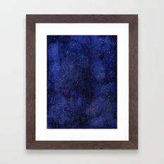 Galaxy Watercolor Texture Night Sky Stars Framed Art Print