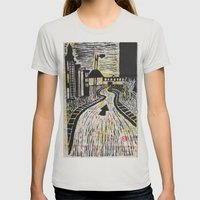 The Road Less Traveled Womens Fitted Tee Silver SMALL