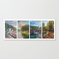 Black Hills Four Seasons Canvas Print