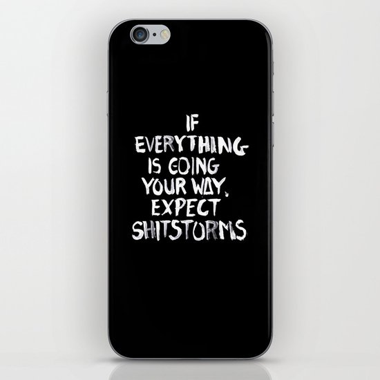Shitstorms iPhone & iPod Skin
