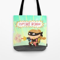 Cupcake woman Tote Bag