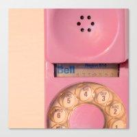 Pink Hotline Canvas Print