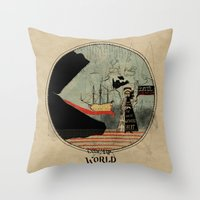 Sea Monsters Eat All Tra… Throw Pillow