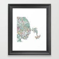 Homme Poisson  Framed Art Print