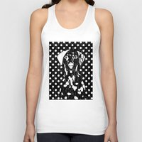 Dog and dot Unisex Tank Top