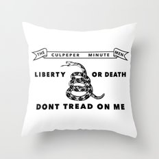 Culpeper Minutemen Flag - Authentic High Quality Version  Throw Pillow