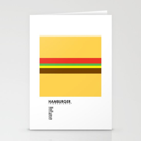 Pantone Food - Hamburger Stationery Card