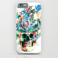 iPhone Cases featuring Skull - Parrots by RIZA PEKER