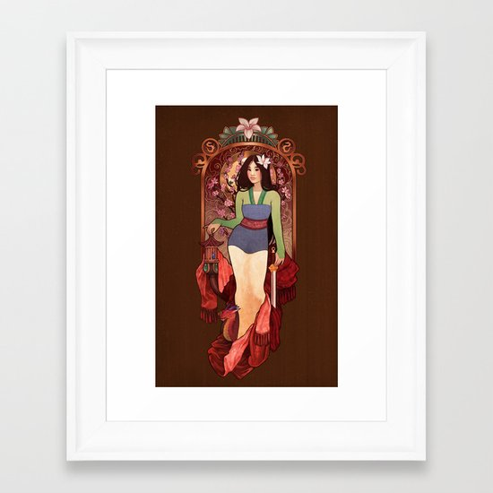 Who I am Inside Framed Art Print
