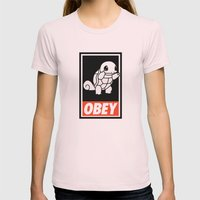 OBEY Squirtle Womens Fitted Tee Light Pink SMALL