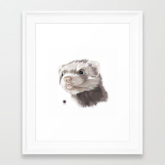 Ferret Framed Art Print