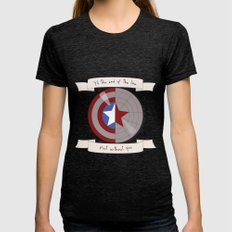 Steve Rogers And Bucky B… Womens Fitted Tee Tri-Black SMALL