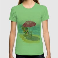 Beach Chair Womens Fitted Tee Grass SMALL