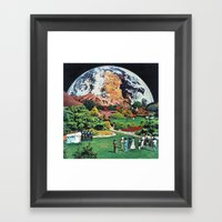 60:59:56 (Vast, lonely, forbidding) Framed Art Print