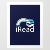 i Read | Book Nerd Slogan Art Print