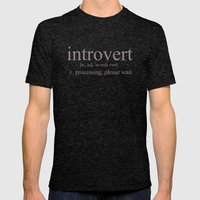 Introvert Mens Fitted Tee Tri-Black SMALL