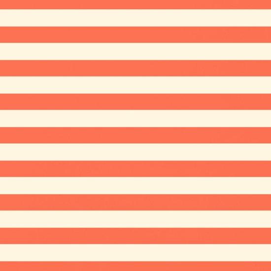 Papaya Stripes  Art Print