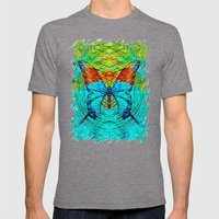 Butterfly Mens Fitted Tee Tri-Grey SMALL