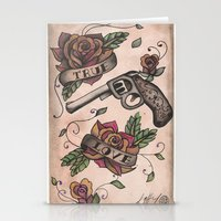 The guns and the roses Stationery Cards