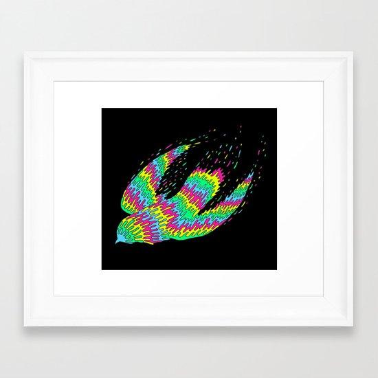 Melting Flight Framed Art Print