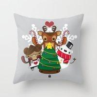 Merry Christmas Chestnut Girl!!! Throw Pillow