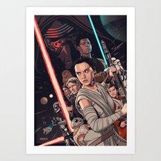 The Force Awakens - Movie Poster Art Print