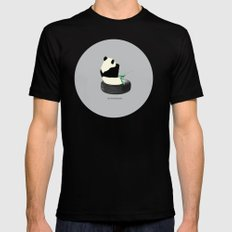 do not disturb. PANDA SMALL Black Mens Fitted Tee