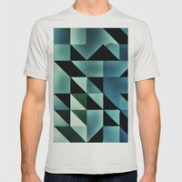 :: Geometric Maze VII :: Mens Fitted Tee Silver SMALL