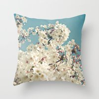 Buds in May Throw Pillow