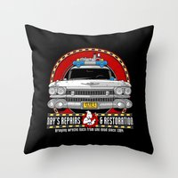 Ray's Repairs and Restoration Throw Pillow
