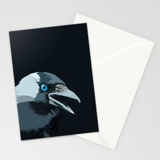 Corvus monedula has a stinking attitude Stationery Cards