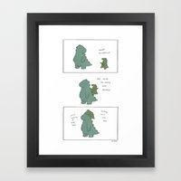 King Godzilla  Framed Art Print