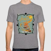 Dogflute. Mens Fitted Tee Tri-Grey SMALL