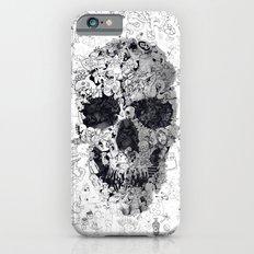 Doodle Skull BW iPhone 6 Slim Case