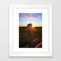 Dusk on the Farm Framed Art Print