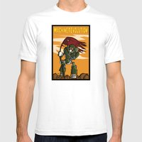Machine Revolution Mens Fitted Tee White SMALL