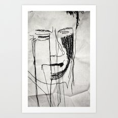 Disappointment Stitch Art Print