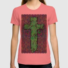 Slime X Cross Womens Fitted Tee Pomegranate SMALL