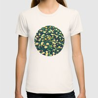 Wild Flowers Womens Fitted Tee Natural SMALL