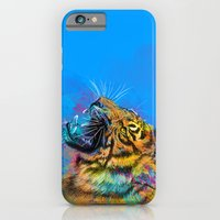 iPhone & iPod Case featuring Angry Tiger by Olechka