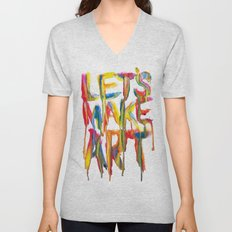 LET'S MAKE ART Unisex V-Neck