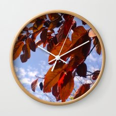 Autumn is in the Air Wall Clock