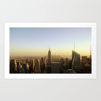 New York Skyline @ Dusk with Empire State Building Art Print