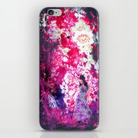 iPhone & iPod Skin featuring dark roses by AstridJN