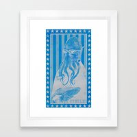 God Vote Cthulhu Framed Art Print