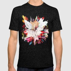 Floral Explosion Mens Fitted Tee Tri-Black SMALL