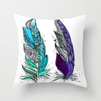 Beauty and Grace 2 Throw Pillow